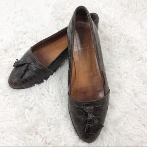 Ralph Lauren Vintage Crocodile Leather Loafers